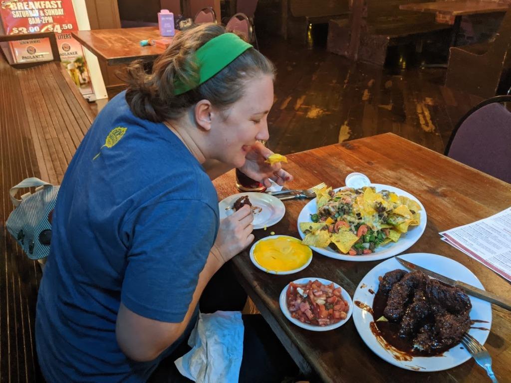 Gabrielle loves her nachos!
